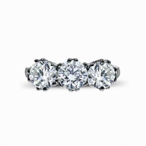 Brilliant Cut 3 Stone Diamond Ring 2.05ct